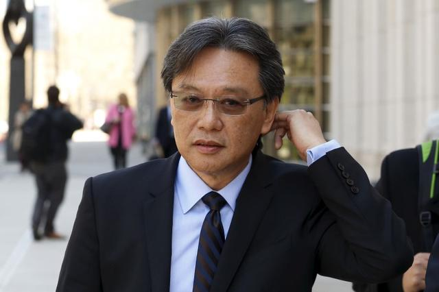 Former Costa Rican Football Federation (FEDEFUT) president and FIFA executive committee member Eduardo Li exits the Brooklyn Federal Courthouse in New York April 13, 2016.   REUTERS/Lucas Jackson/File Photo