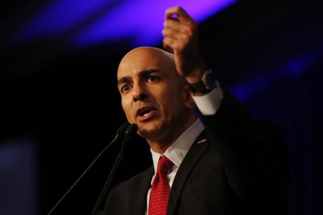 California Republican gubernatorial primary candidate Neel Kashkari speaks on stage during the California Republican Party Spring Convention in Burlingame, California March 16, 2014  REUTERS/Stephen Lam
