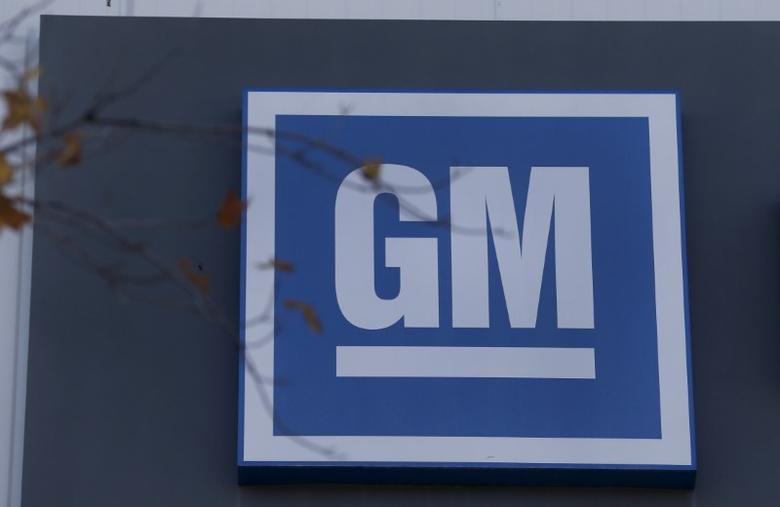 The GM logo is seen at the General Motors Lansing Grand River Assembly Plant in Lansing, Michigan October 26, 2015. REUTERS/Rebecca Cook/File Photo