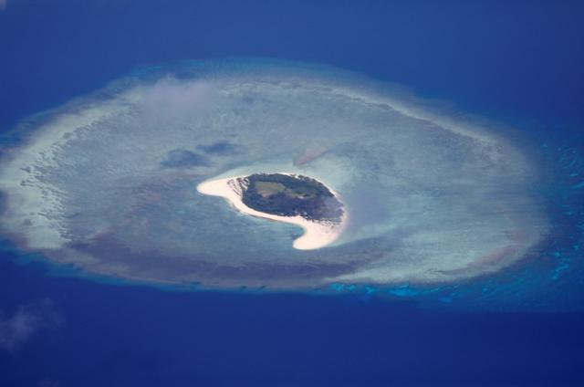 An aerial view of uninhabited island in the Spratlys in the disputed South China Sea, April 21, 2017. REUTERS/Erik De Castro