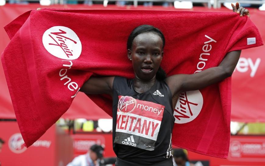 Kenya's Keitany breaks women's only world record at London Marathon