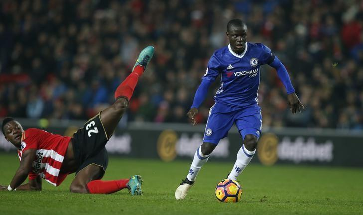 FILE PHOTO: Britain Football Soccer - Sunderland v Chelsea - Premier League - The Stadium of Light - 14/12/16 Chelsea's N'Golo Kante in action with Sunderland's Lamine Kone  Reuters / Andrew Yates Livepic/Files