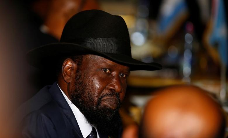 South Sudan's President Salva Kiir attends the 28th Ordinary Session of the Assembly of the Heads of State and the Government of the African Union in Ethiopia's capital Addis Ababa, January 30, 2017. REUTERS/Tiksa Negeri