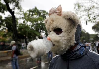 Venezuela's masks of protest