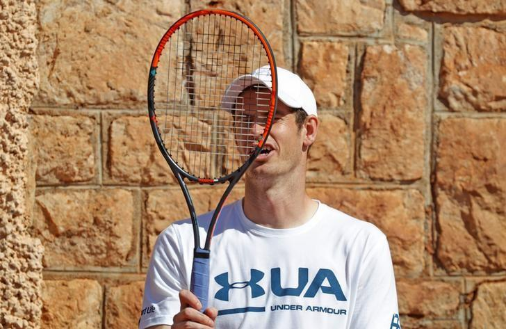 Tennis - Monte Carlo Masters - Monaco, 17/04/2017. Andy Murray of Britain holds his racket during a training at the Monte Carlo Master in Monaco.        REUTERS/Eric Gaillard/Files