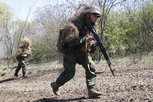 Separatist military drills in Ukraine's pro-Russian region
