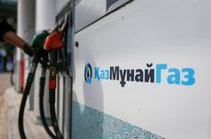 The logo of Kazakh state-owned oil and gas company KazMunayGas is seen at company's gas station in Almaty, Kazakhstan, May 4, 2016.  REUTERS/Shamil Zhumatov
