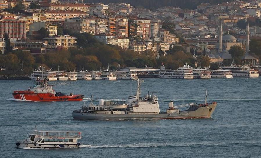 Russian intelligence ship sinks off Turkey's Black Sea coast - authorities
