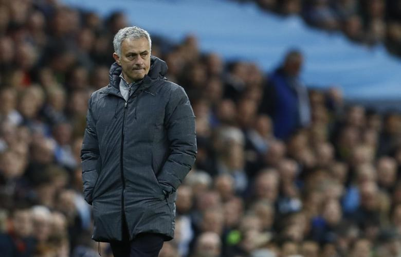 Britain Soccer Football - Manchester City v Manchester United - Premier League - Etihad Stadium - 27/4/17 Manchester United manager Jose Mourinho  Action Images via Reuters / Jason Cairnduff Livepic
