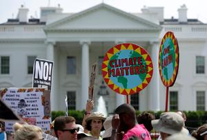 Protesters rally during climate march