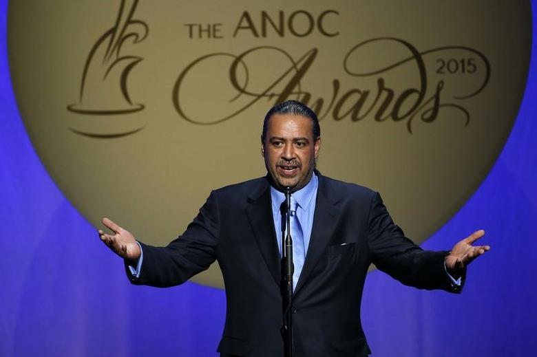 FILE PHOTO: Oct 29, 2015; Washington, USA; ANOC president Sheikh Ahmad Al-Fahad Al-Ahmed Al-Sabah of Kuwait speaks during the 2015 ANOC Awards at DAR Constitution Hall. Mandatory Credit: Geoff Burke-USA TODAY Sports