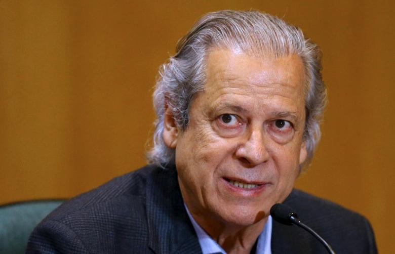 Jose Dirceu, former Brazilian President Luiz Inacio Lula da Silva's chief of staff,  attends a session of the Parliamentary Committee of Inquiry in Curitiba, Brazil, August 31, 2015. REUTERS/Rodolfo Buhrer/Files