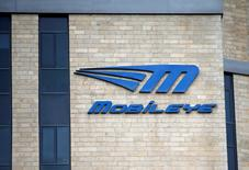 FILE PHOTO: The logo Israeli driverless technology firm Mobileye is seen on the building of their offices in Jerusalem March 13, 2017. REUTERS/Ronen Zvulun/File Photo