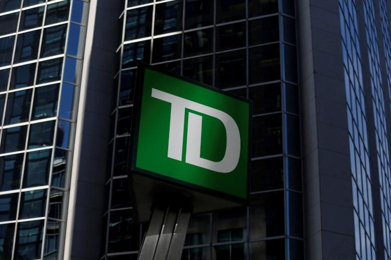 FILE PHOTO - A Toronto-Dominion Bank (TD) sign is seen outside of a branch in Ottawa, Ontario, Canada on May 26, 2016. REUTERS/Chris Wattie/File Photo