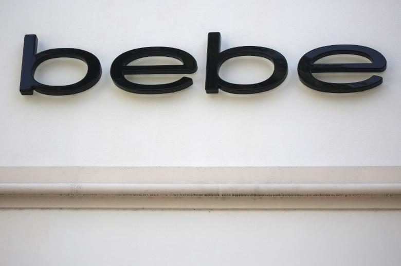 A Bebe store logo is pictured on a building along the Lincoln Road Mall in Miami Beach, Florida March 17, 2016. REUTERS/Carlo Allegri
