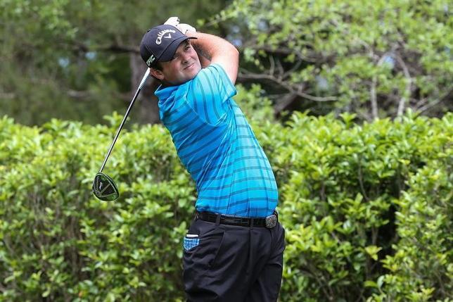 5月6日、米男子ゴルフのウェルズ・ファーゴ選手権、第3ラウンドを終えてパトリック・リードが通算8アンダーで単独首位(2017年 ロイター/Jim Dedmon-USA TODAY Sports)