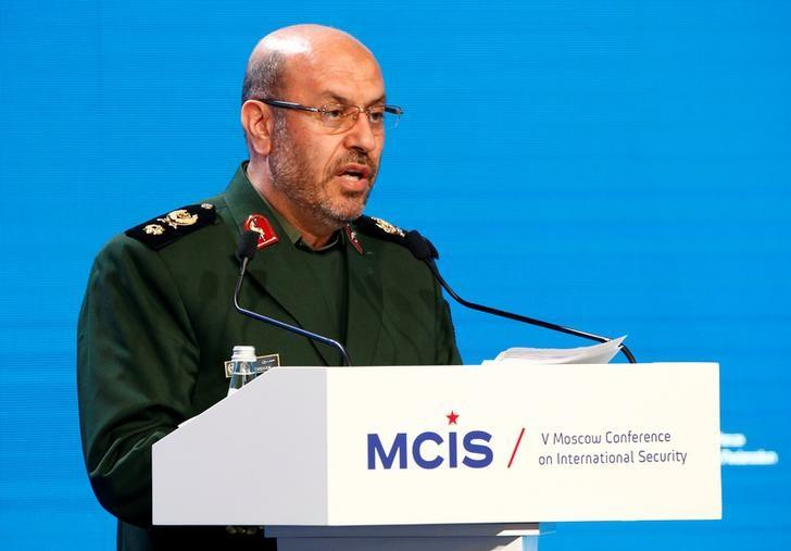 Iranian Defence Minister Hossein Dehghan delivers a speech as he attends the 5th Moscow Conference on International Security (MCIS) in Moscow, Russia, April 27, 2016. REUTERS/Sergei Karpukhin
