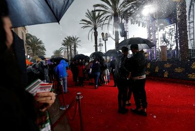 MTV's rained-out red carpet
