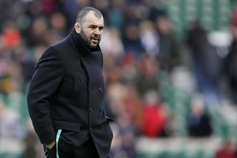 Britain Rugby Union - England v Australia - 2016 Old Mutual Wealth Series - Twickenham Stadium, London, England - 3/12/16 Australia head coach Michael Cheika during the warm up Action Images via Reuters / Henry Browne Livepic