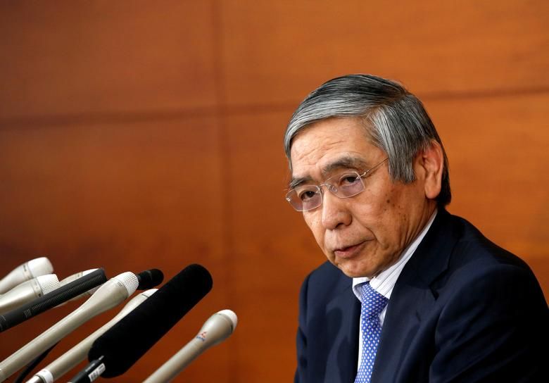 FILE PHOTO: Bank of Japan (BOJ) Governor Haruhiko Kuroda attends a news conference at the BOJ headquarters in Tokyo, Japan April 27, 2017. REUTERS/Kim Kyung-Hoon