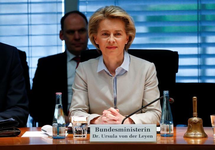 German Defence Minister Ursula von der Leyen faces the defence commission of the lower house of parliament Bundestag in Berlin, Germany May 10, 2017. REUTERS/Fabrizio Bensch