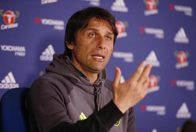 Britain Football Soccer - Chelsea - Antonio Conte Press Conference - Stamford Bridge - 11/5/17 Chelsea manager Antonio Conte during the press conference Action Images via Reuters / Matthew Childs Livepic