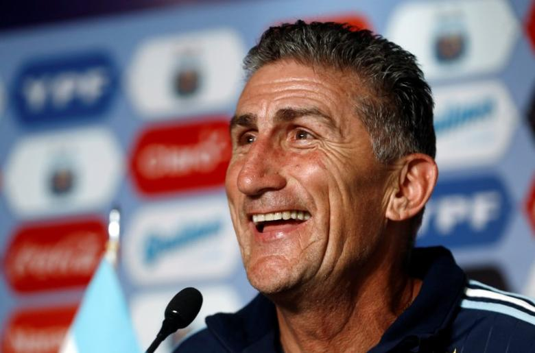 Argentinas new national soccer team coach Edgardo Bauza attends a news conference at the squad's camp in Buenos Aires, Argentina, August 5, 2016. REUTERS/Agustin Marcarian   Picture Supplied by Action Images