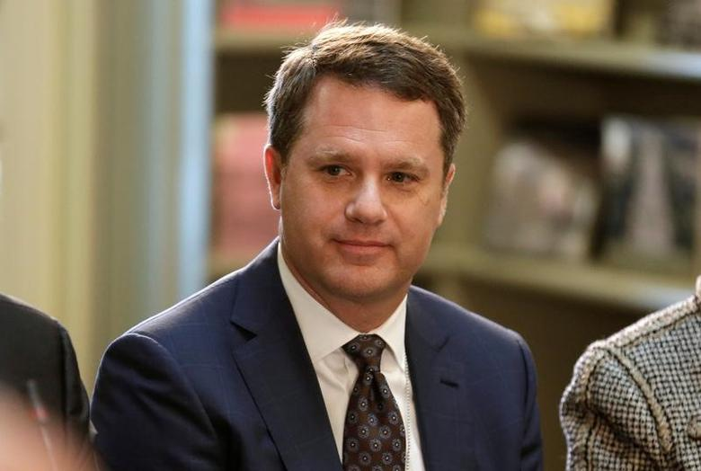 President and CEO of Walmart Doug McMillon takes part in a strategic and policy CEO discussion with U.S. President Donald Trump in the Eisenhower Execution Office Building in Washington, U.S., April 11, 2017. REUTERS/Joshua Roberts
