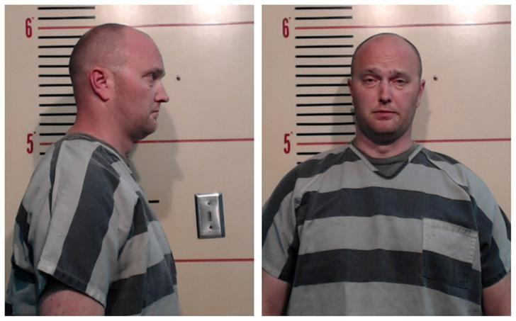 FILE PHOTO: A combination photo shows Roy Oliver in Parker County Sheriff's Office booking photos in Weatherford, Texas, U.S. on May 5, 2017.    Courtesy Parker County Sheriff's Office/Handout via REUTERS/FILE Photo