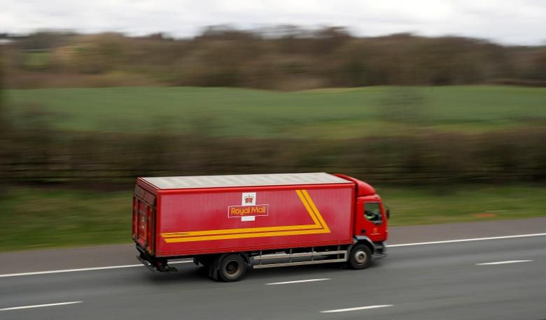 FILE PHOTO: A Royal Mail vehicle drives along the M6 motorway near Knutsford, northern England, April 8, 2016. REUTERS/Phil Noble/File Photo
