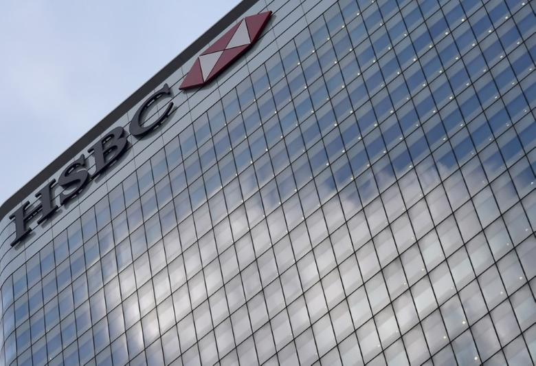 FILE PHOTO: The HSBC headquarters is seen in the Canary Wharf financial district in east London, Britain February 15, 2016.  REUTERS/Hannah McKay