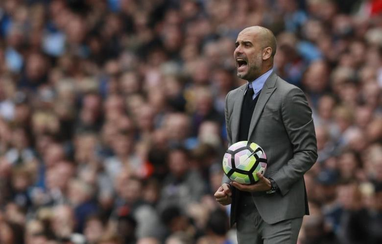 Britain Football Soccer - Manchester City v Leicester City - Premier League - Etihad Stadium - 13/5/17 Manchester City manager Pep Guardiola Action Images via Reuters / Jason Cairnduff Livepic