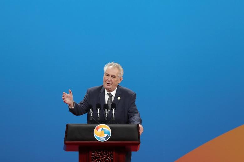 Czech Republic's President Milos Zeman speaks during the Belt and Road Forum for International Cooperation in Beijing, China May 14, 2017.  REUTERS/Lintao Zhang/Pool