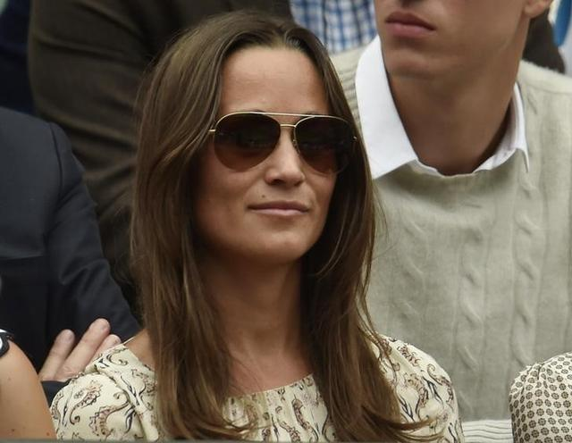 Pippa Middleton on Centre Court at the Wimbledon Tennis Championships in London, July 12, 2015.  REUTERS/Toby Melville /File Photo
