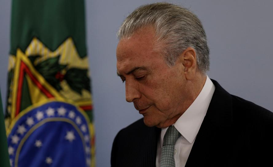 Brazil plea-bargain testimony says President Michel Temer took $4.6 million in bribes