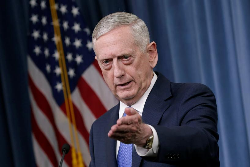 U.S.' Mattis says no recommendation yet on troop levels for Afghanistan