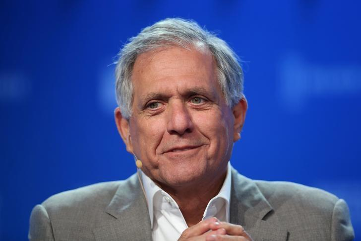 FILE PHOTO: Leslie Moonves, Chairman and CEO, CBS Corporation, speaks during the Milken Institute Global Conference in Beverly Hills, California, U.S., May 3, 2017. REUTERS/Lucy Nicholson