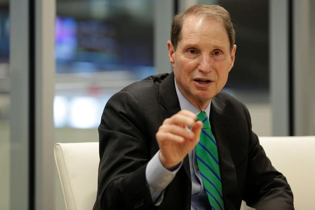 REFILE - CORRECTING TYPO - Senator Ron Wyden (D-OR) speaks with Reuters during an interview in Washington, U.S., May 19, 2017. REUTERS/Joshua Roberts