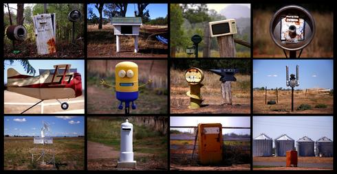 Australia's odd-shaped rural mailboxes
