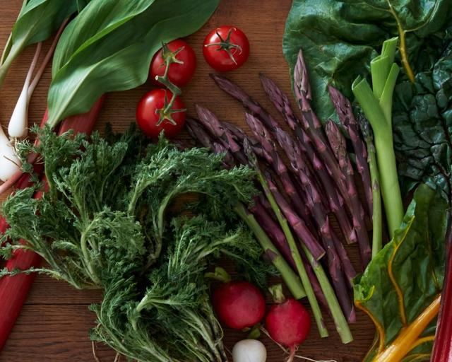 Vegetables are seen in an undated photo illustration provided by New York-based meal kit delivery service Blue Apron. Blue Apron/Handout via REUTERS
