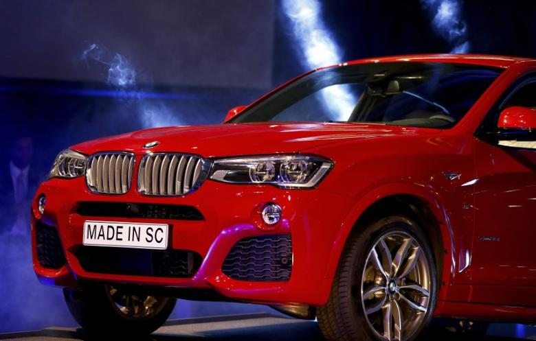 The BMW X4 is unveiled during an event at the BMW manufacturing plant in Spartanburg, South Carolina March 28, 2014. Chris Keane