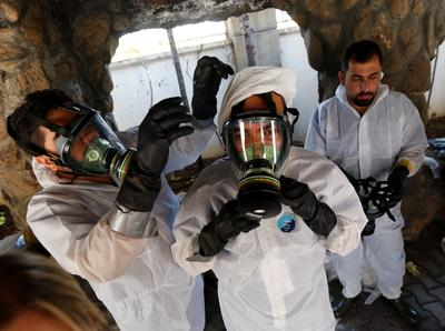 Preparing for a Syrian gas attack