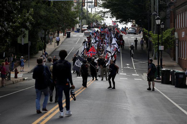 White nationalists march in Charlottesville. REUTERS/Joshua Roberts
