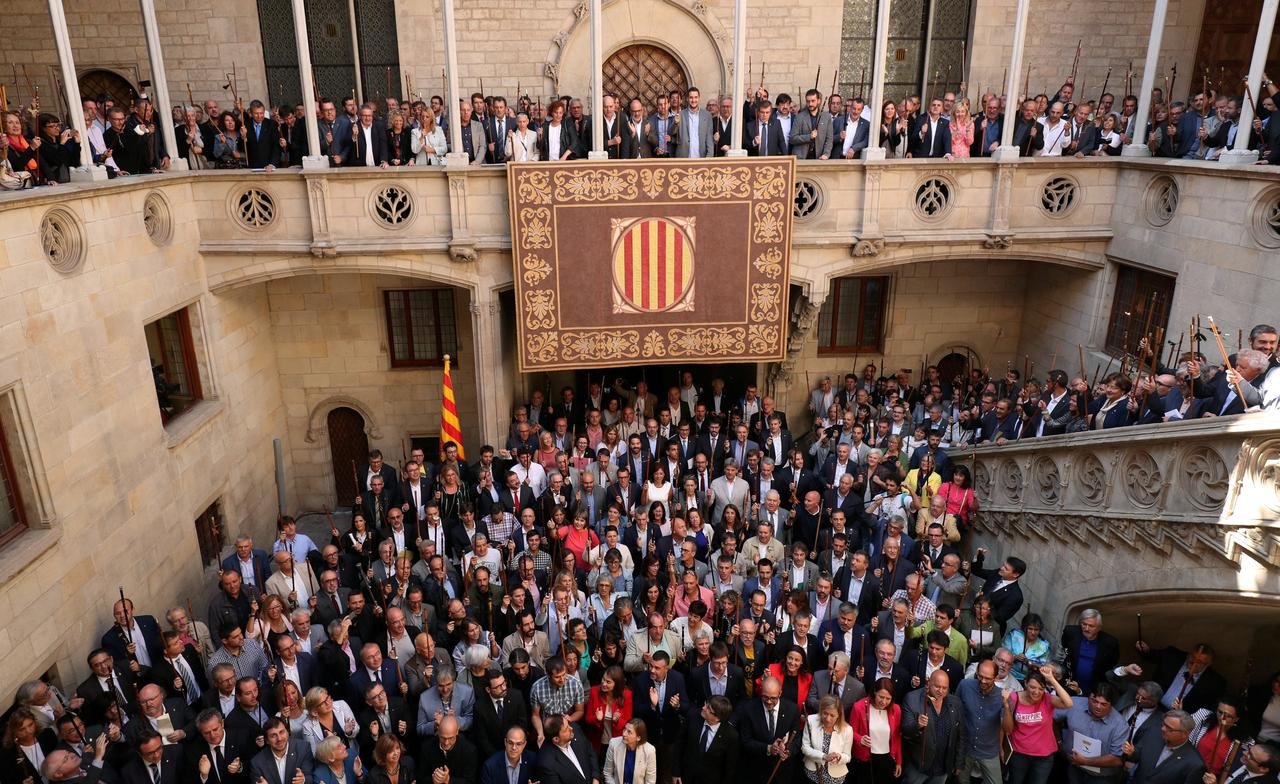 Image result for Catalan Mayors defy courts ahead of referendum