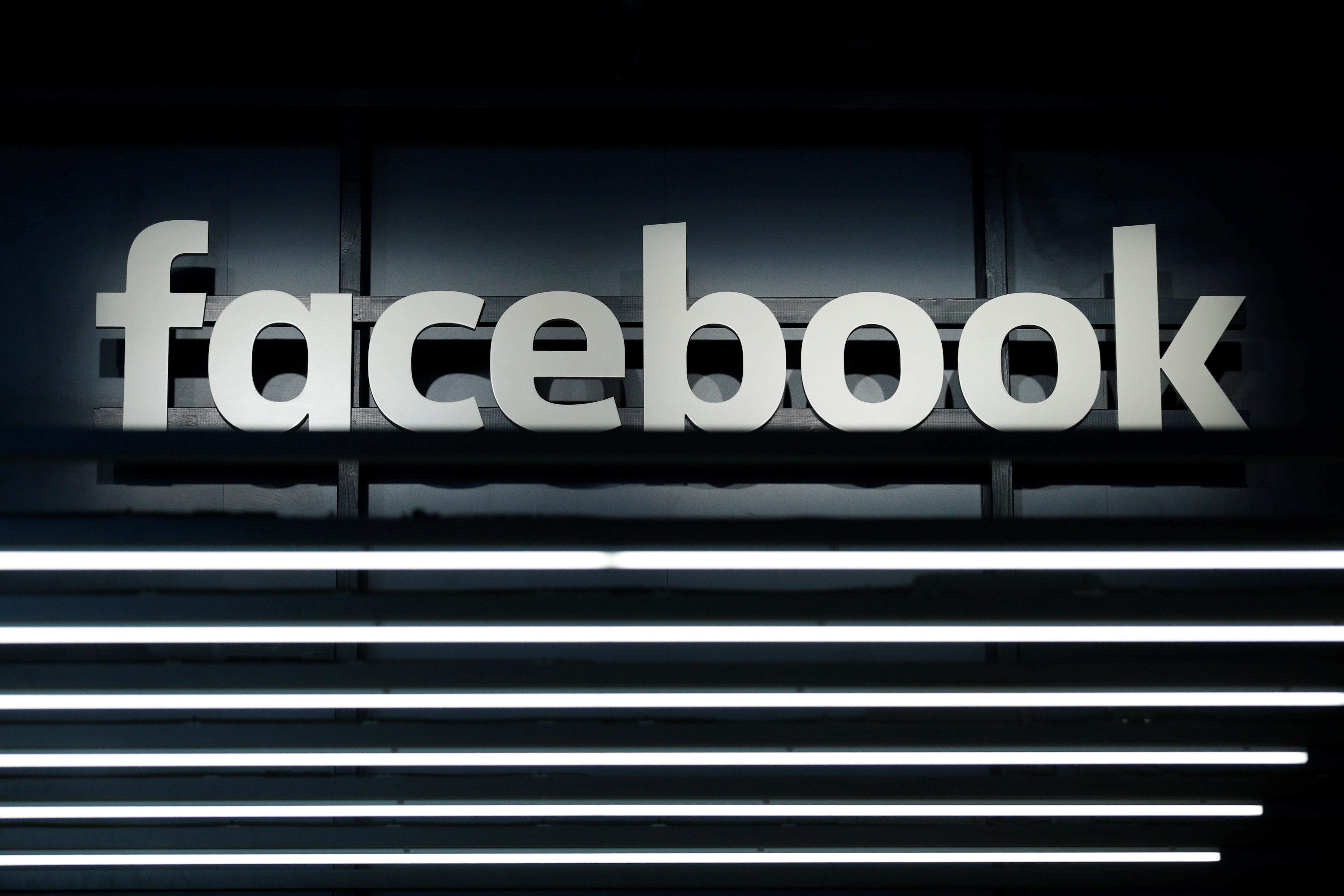 A Facebook logo is pictured at the Frankfurt Motor Show (IAA) in Frankfurt, Germany September 16, 2017. Ralph Orlowski