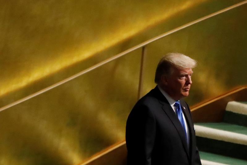 U.S. President Donald Trump arrives to address the 72nd United Nations General Assembly at U.N. headquarters in New York, U.S., September 19, 2017. Shannon Stapleton