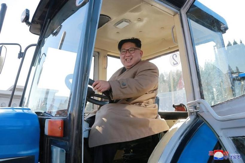 North Korea's Kim trades missiles for tractors during testing lull
