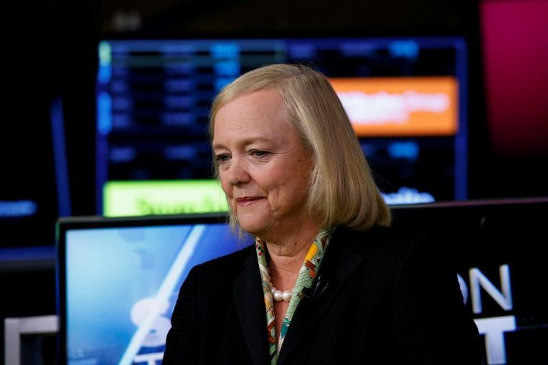 Hewlett Packard Enterprise CEO Meg Whitman is seen following an interview on CNBC on the floor of the New York Stock Exchange (NYSE) in New York, U.S., September 6, 2017. Brendan McDermid