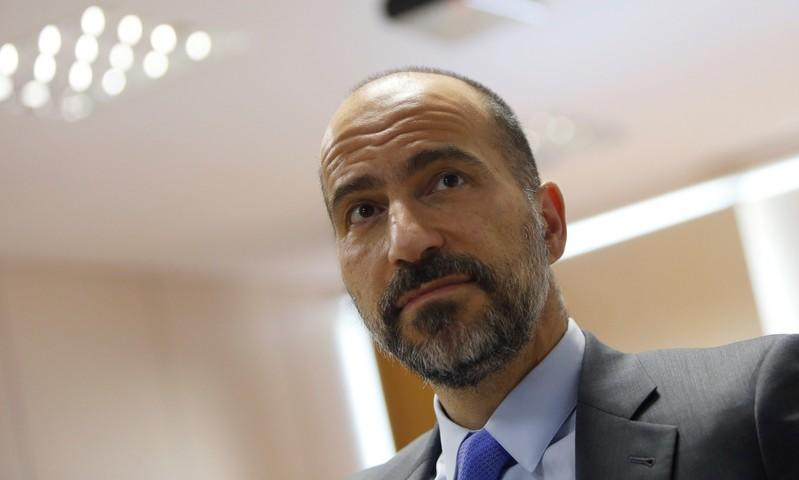 The chief executive of Uber Technologies Inc, Dara Khosrowshahi attends a meeting with Brazilian Finance Minister Henrique Meirelles (not pictured) in Brasilia, Brazil October 31, 2017. Adriano Machado