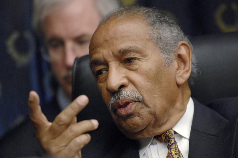 FILE PICTURE: Committee chairman Rep. John Conyers (D-MI) holds a House Judiciary Committee hearing on the George W. Bush presidency, called